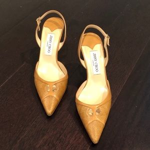 "Jimmy Choo 3"" heels/pumps. Skin."
